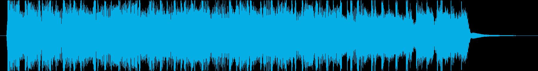 ヘビーメタル、ハードロック、リフ1の再生済みの波形