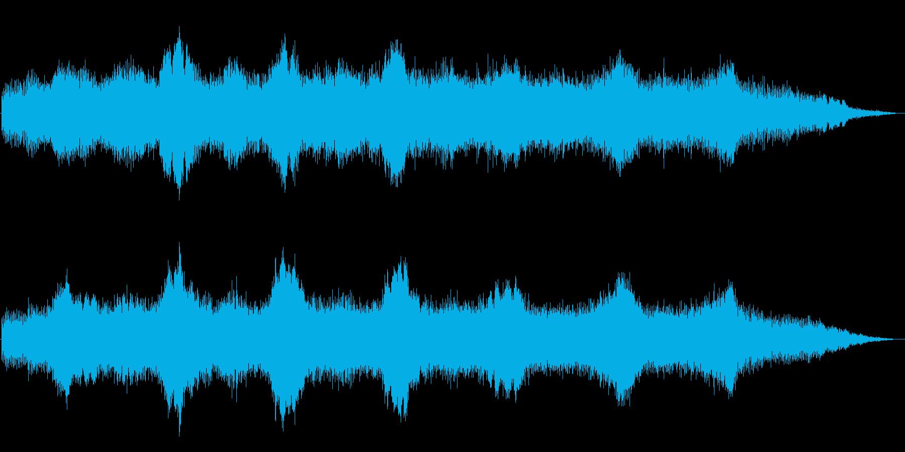 シンセが印象的な悲しげなジングルの再生済みの波形