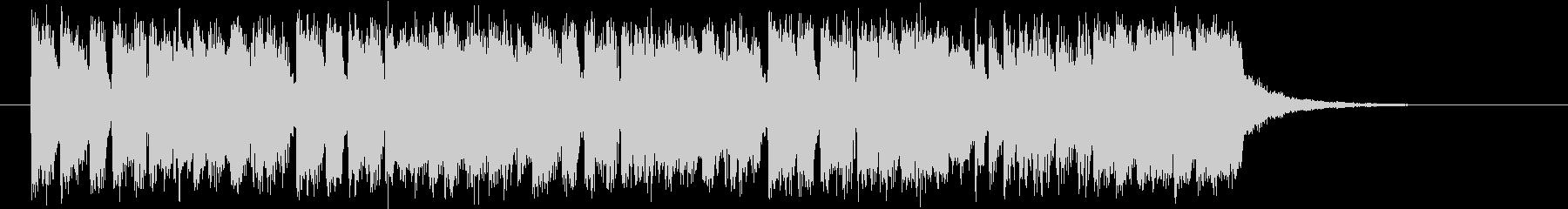 ディスコ調のテクノバンドのジングルの未再生の波形