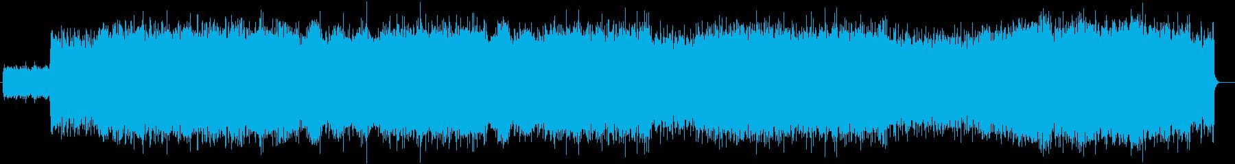 近未来感のあるエレクトロBGMの再生済みの波形