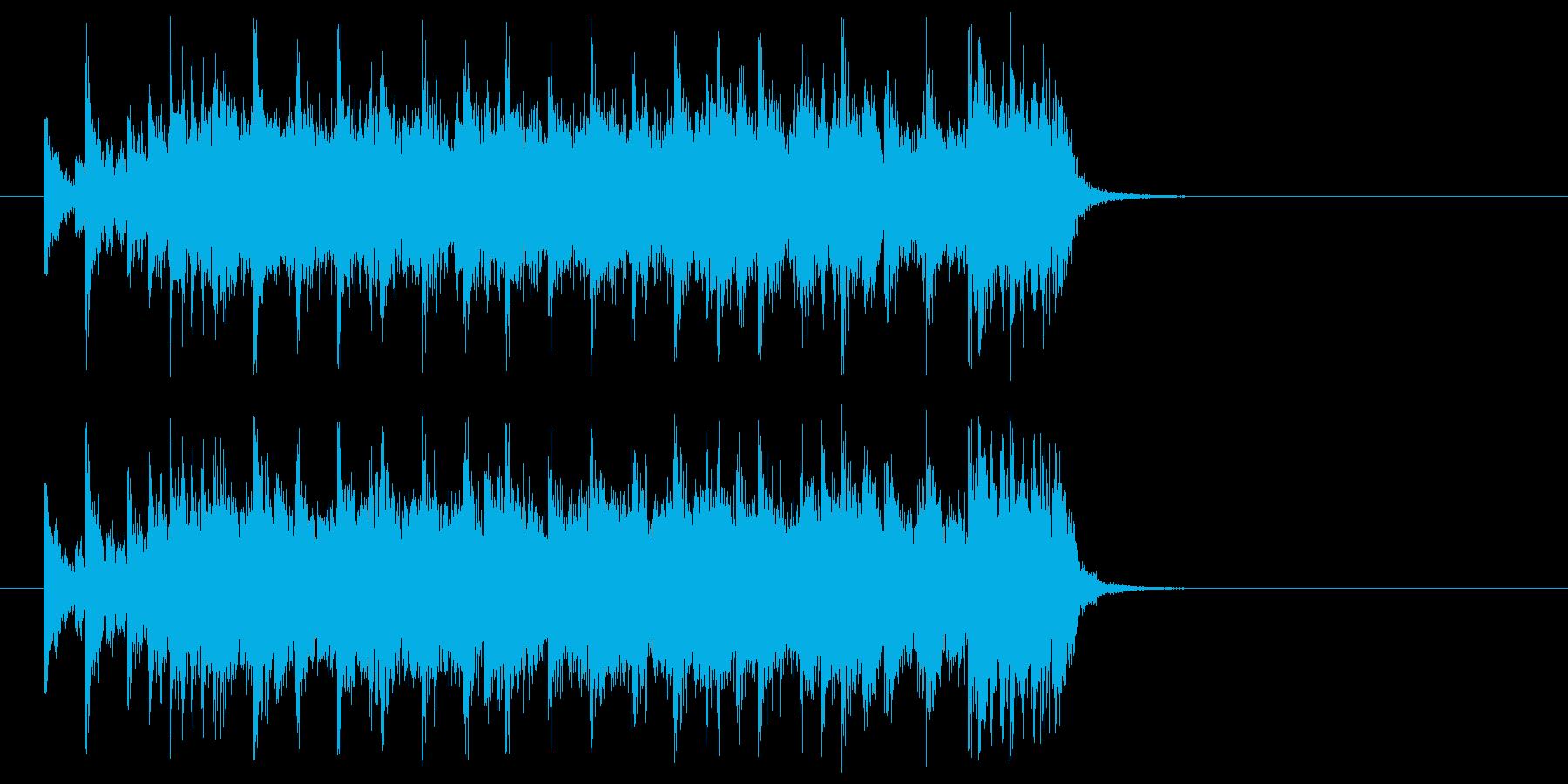 ジングル(ディスコ風)の再生済みの波形