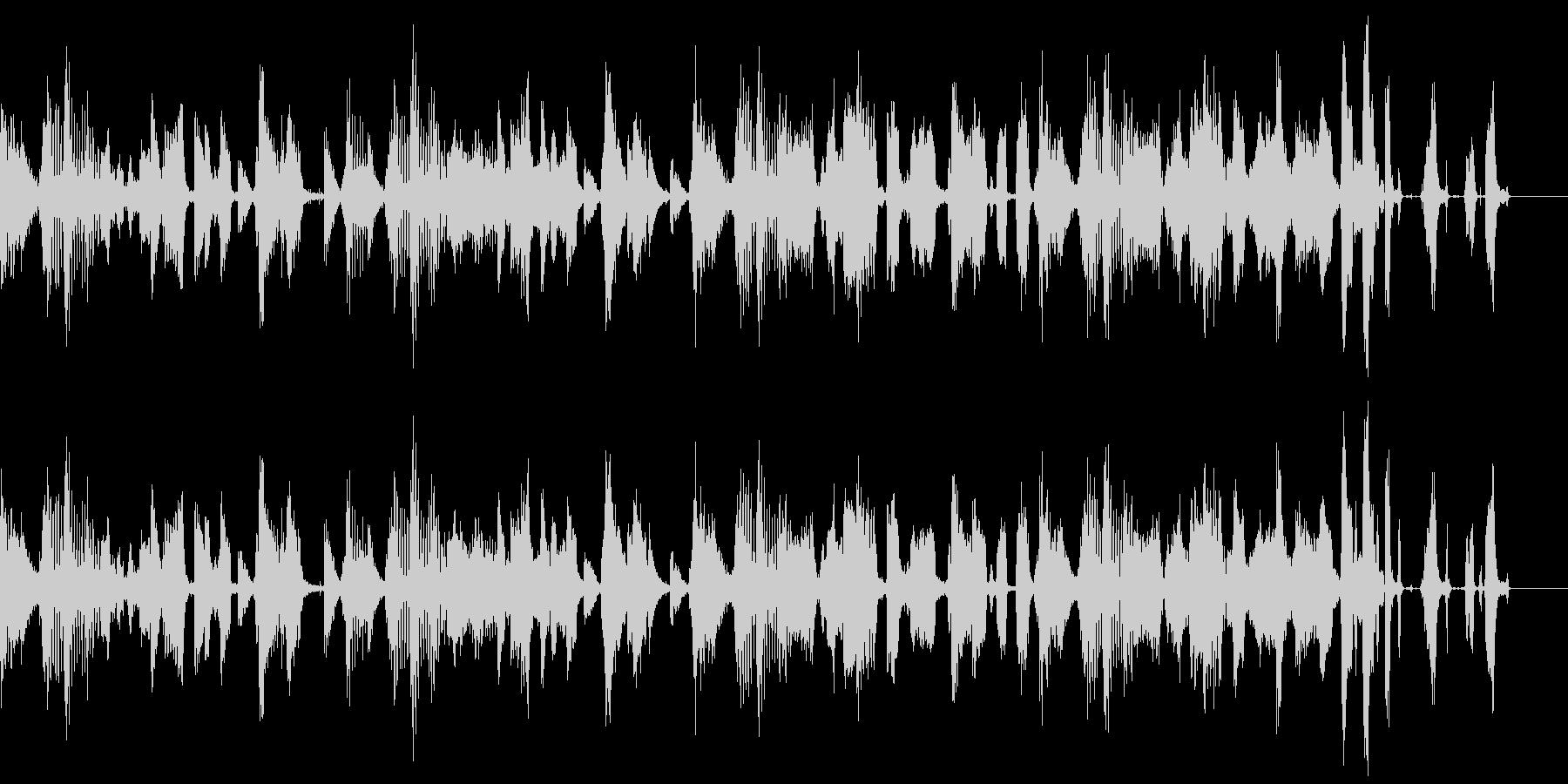 ヒップホップテイストのBGMの未再生の波形