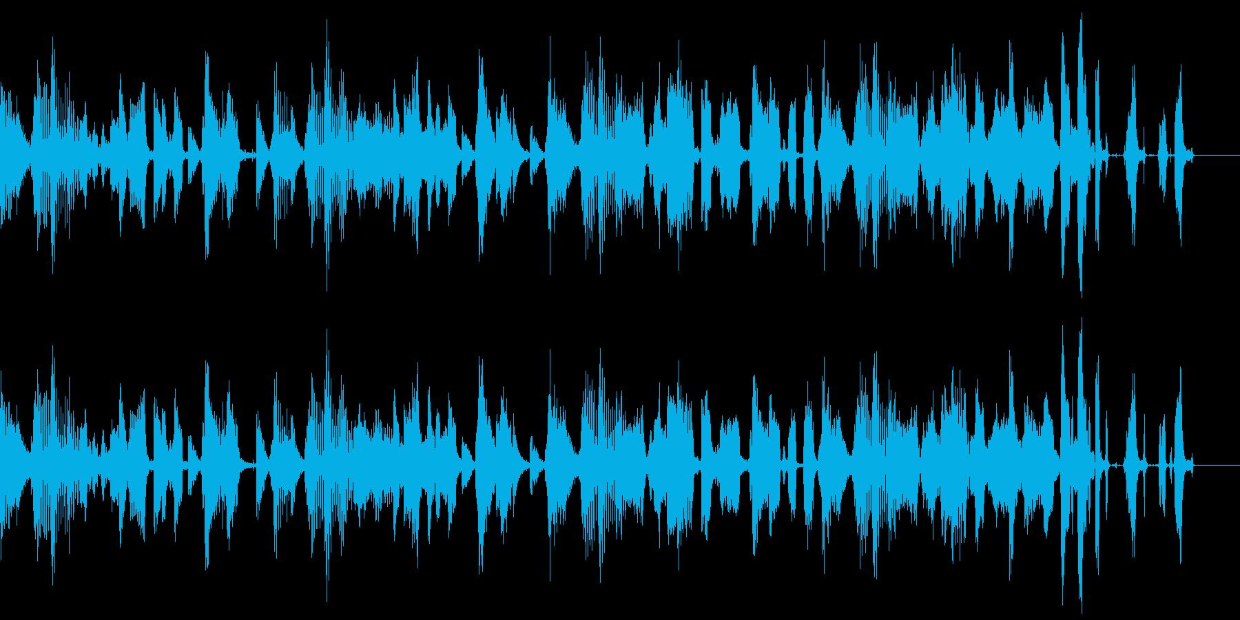 ヒップホップテイストのBGMの再生済みの波形