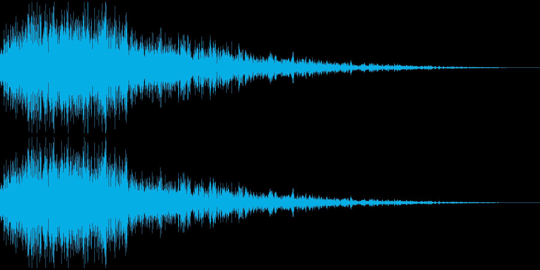 ロボット足音 タイプ1の再生済みの波形