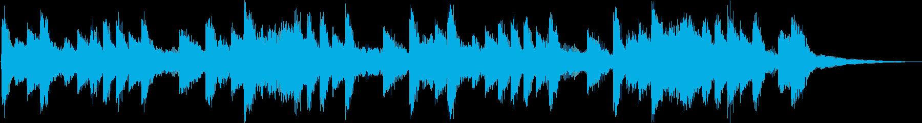 怪しげな雰囲気のテクノジングルの再生済みの波形