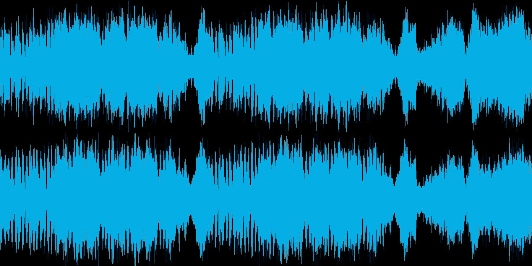 ファンタジー、ボス戦向けオーケストラの再生済みの波形