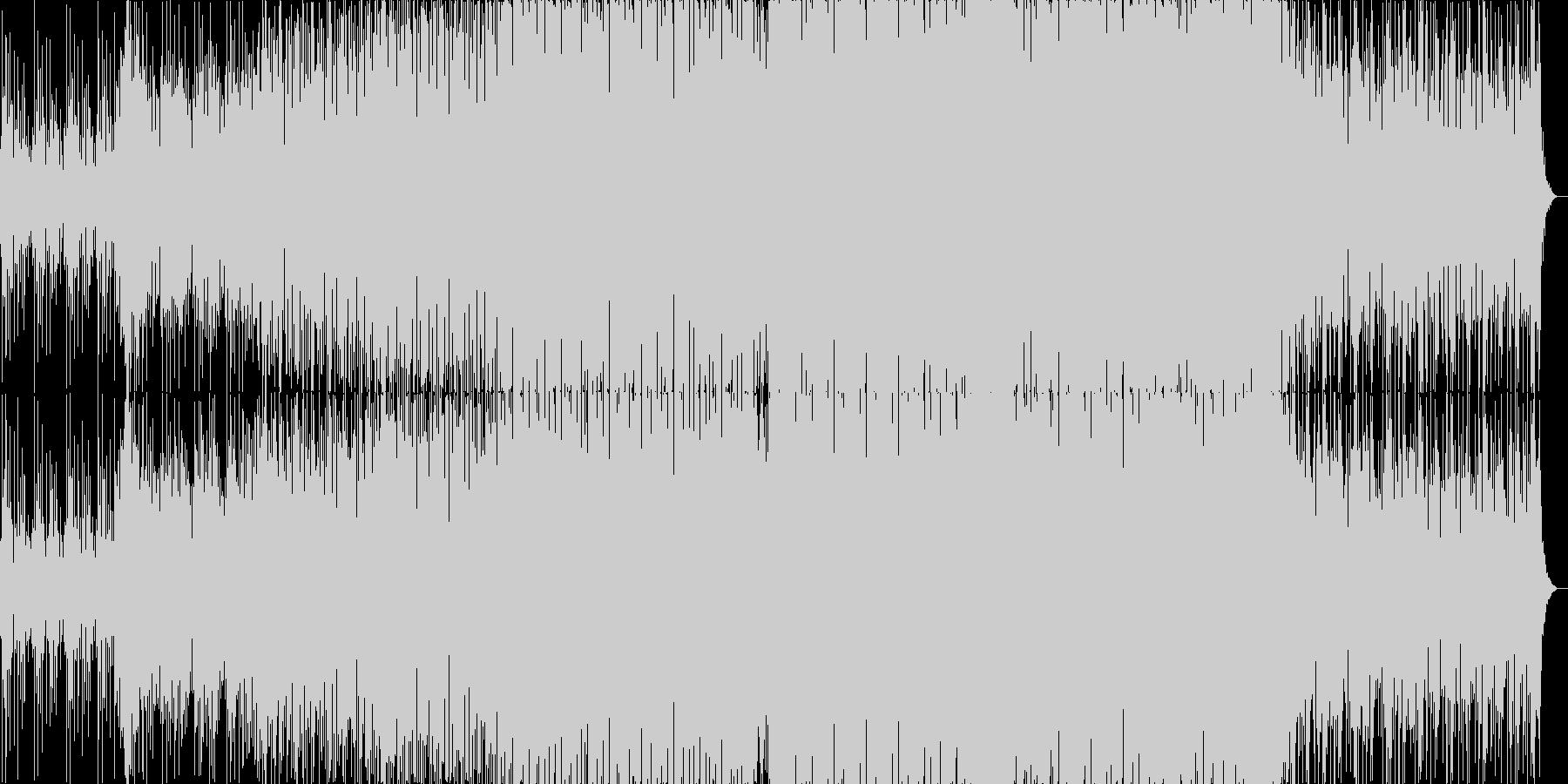 近未来感のある軽めなドラムンベースの未再生の波形
