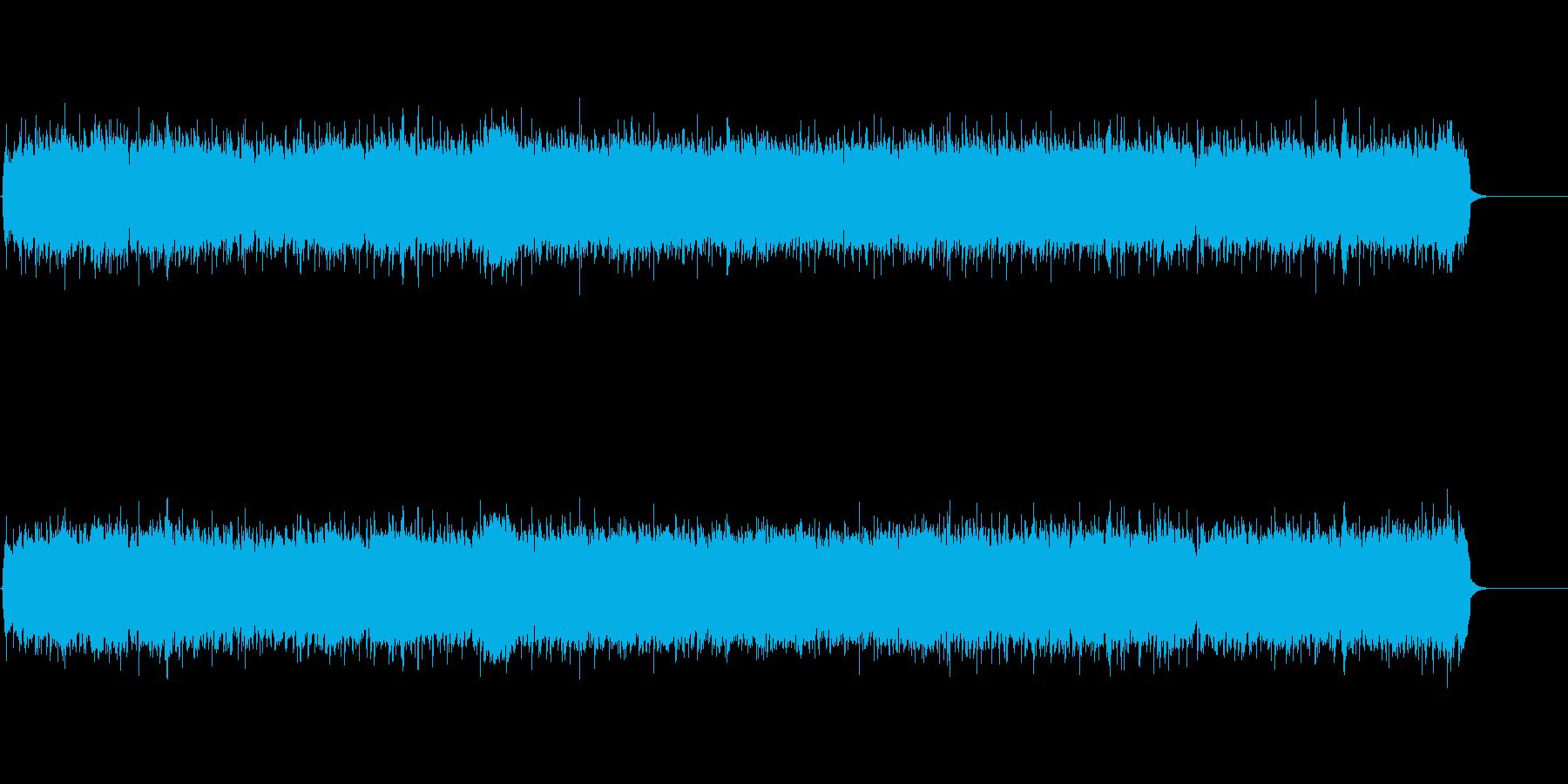 アメリカンスタイルのタフでワイルドな曲の再生済みの波形