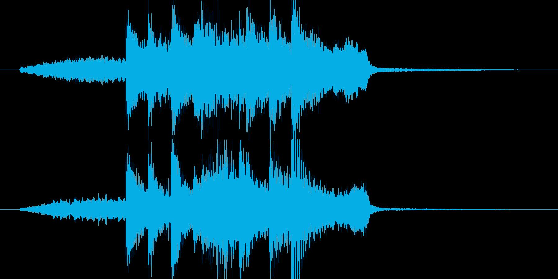高音質ピアノ都会的ジングルスタイリッシュの再生済みの波形
