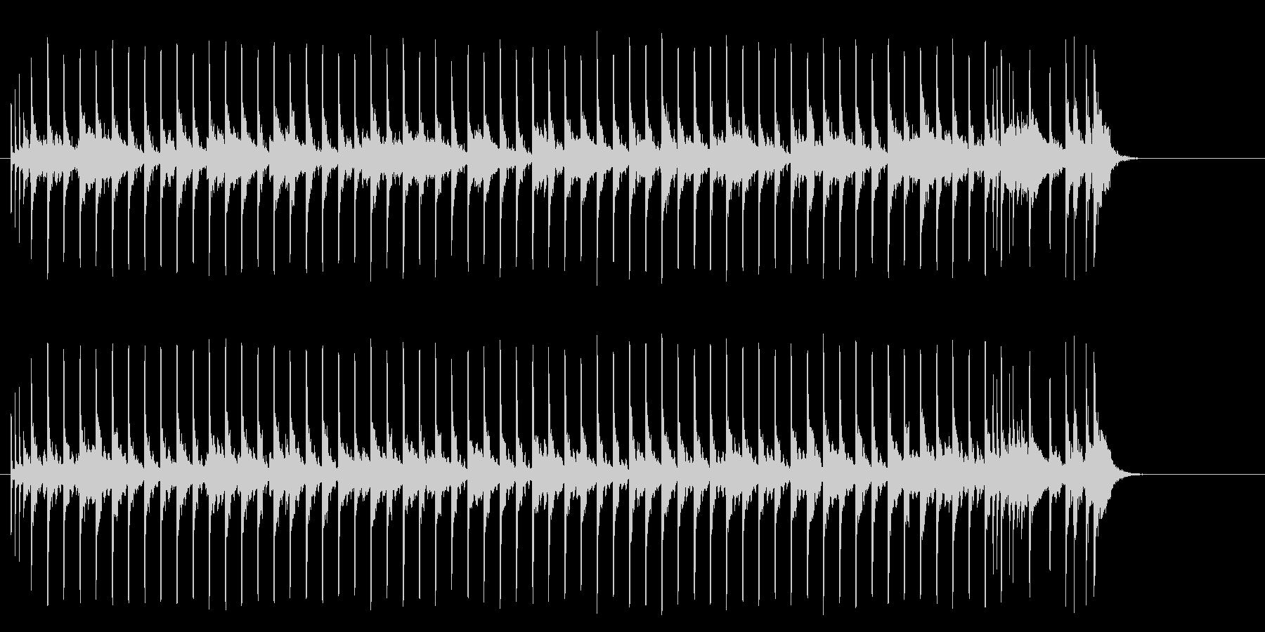 胸が熱くなるようなポップの未再生の波形
