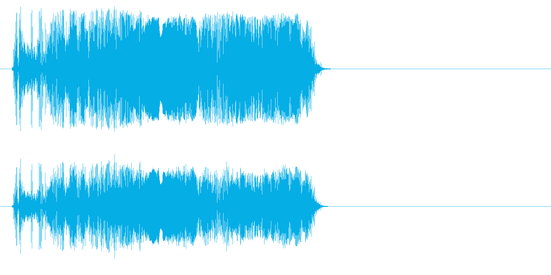 くわくわの再生済みの波形