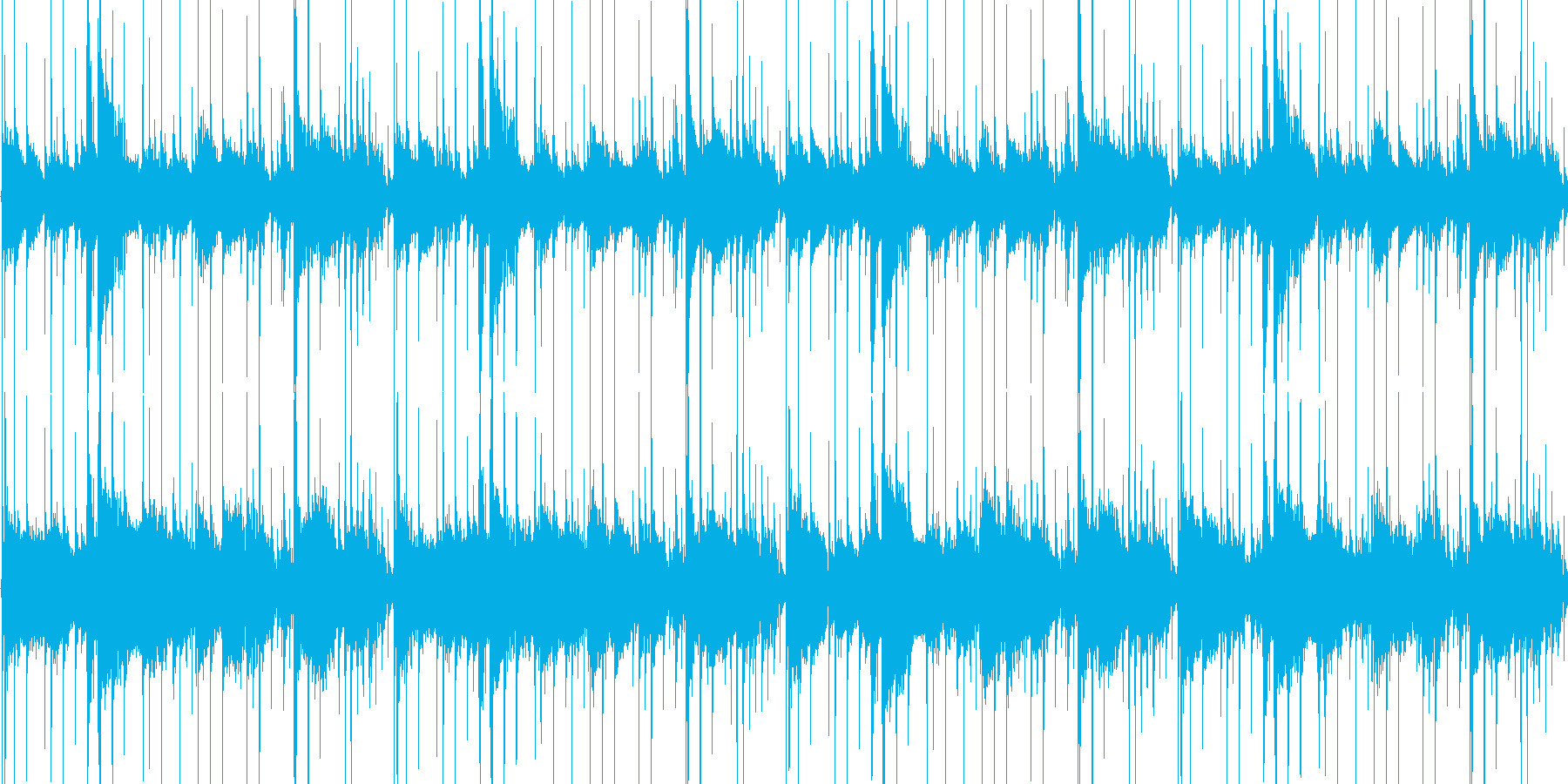 シンプルなEギターのLOOPですの再生済みの波形