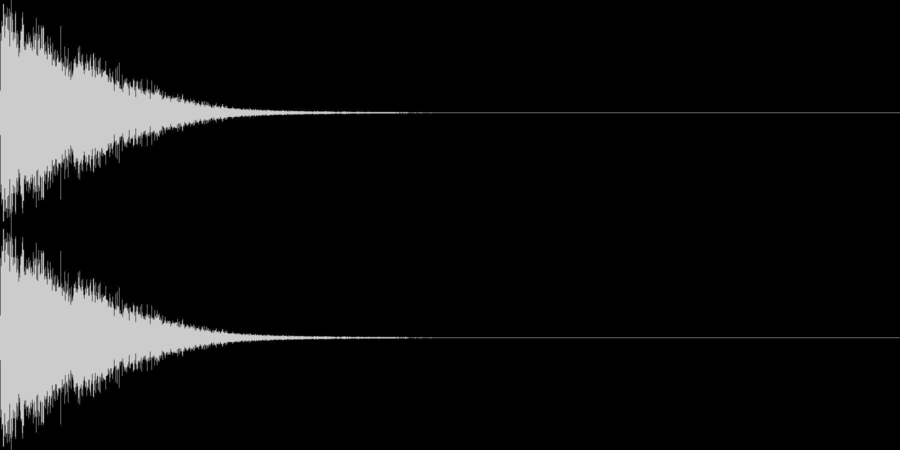 ビームガン(中)の未再生の波形