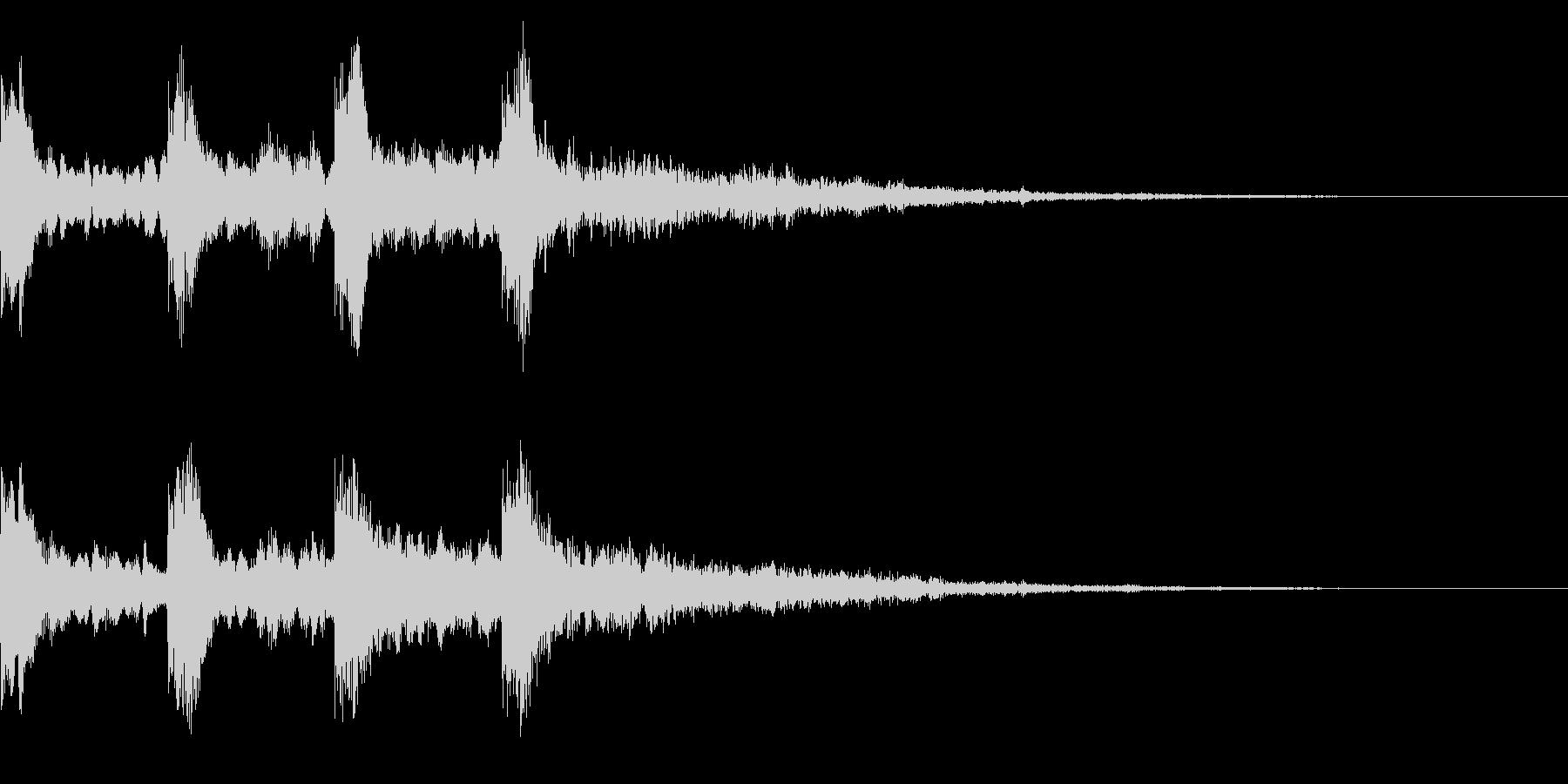 ミステリーな音 レトロなゲームオーバー音の未再生の波形