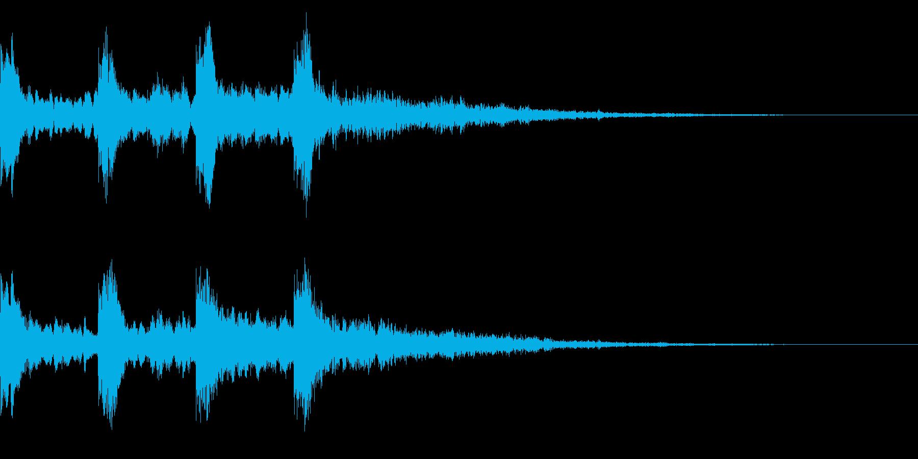 ミステリーな音 レトロなゲームオーバー音の再生済みの波形