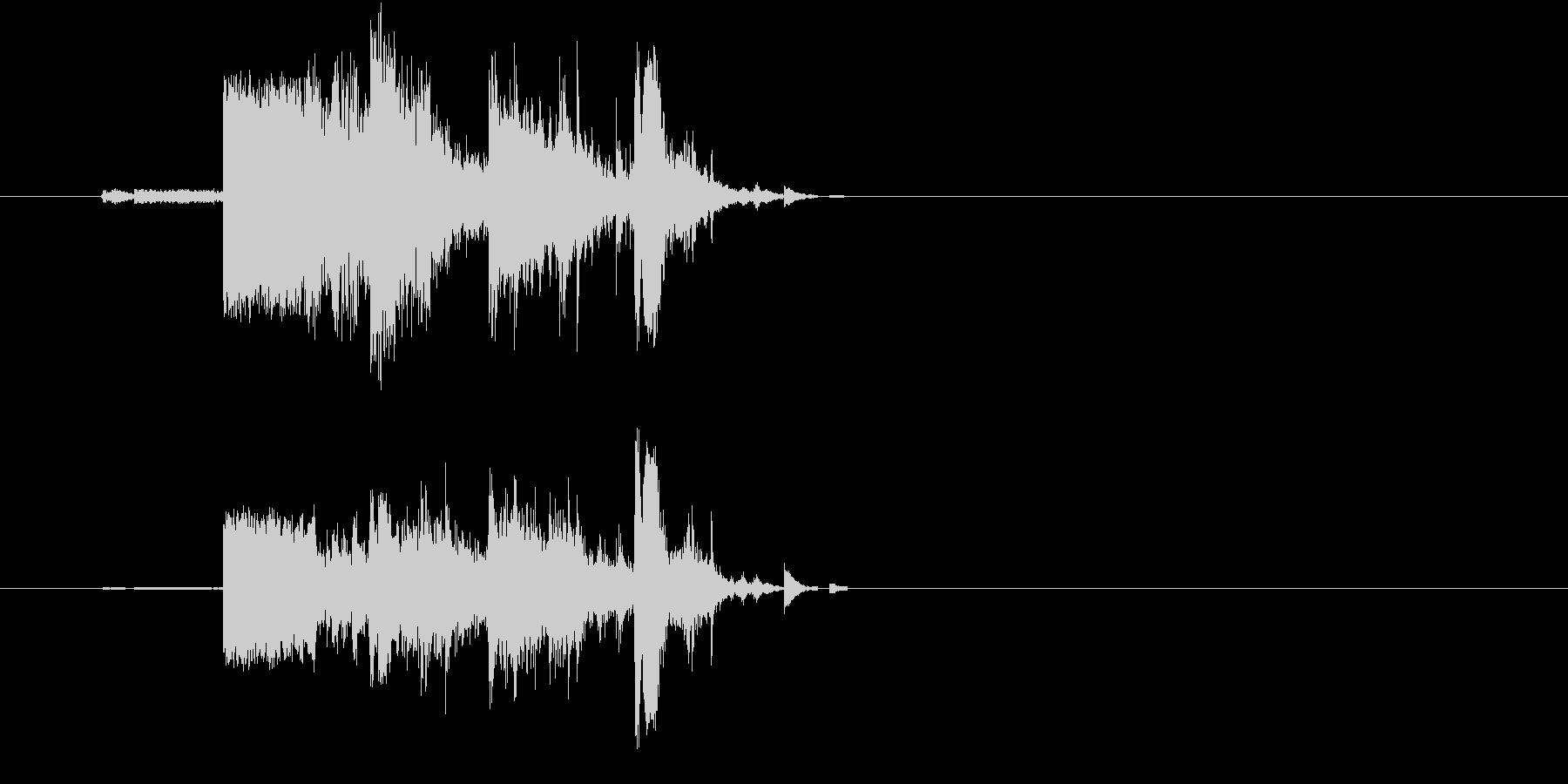 割れ物を破壊した時の効果音(ガシャン)の未再生の波形