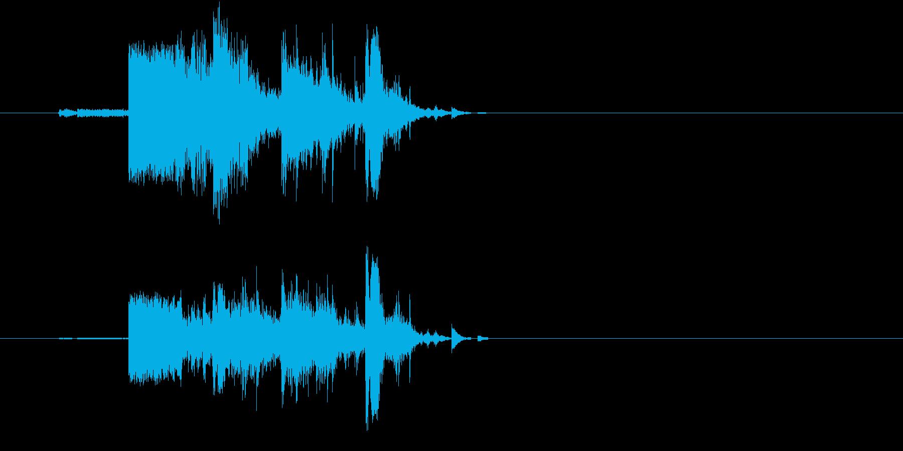 割れ物を破壊した時の効果音(ガシャン)の再生済みの波形