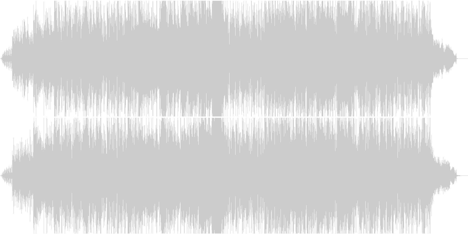 ヘリコプターでワイルドに登場する曲の未再生の波形