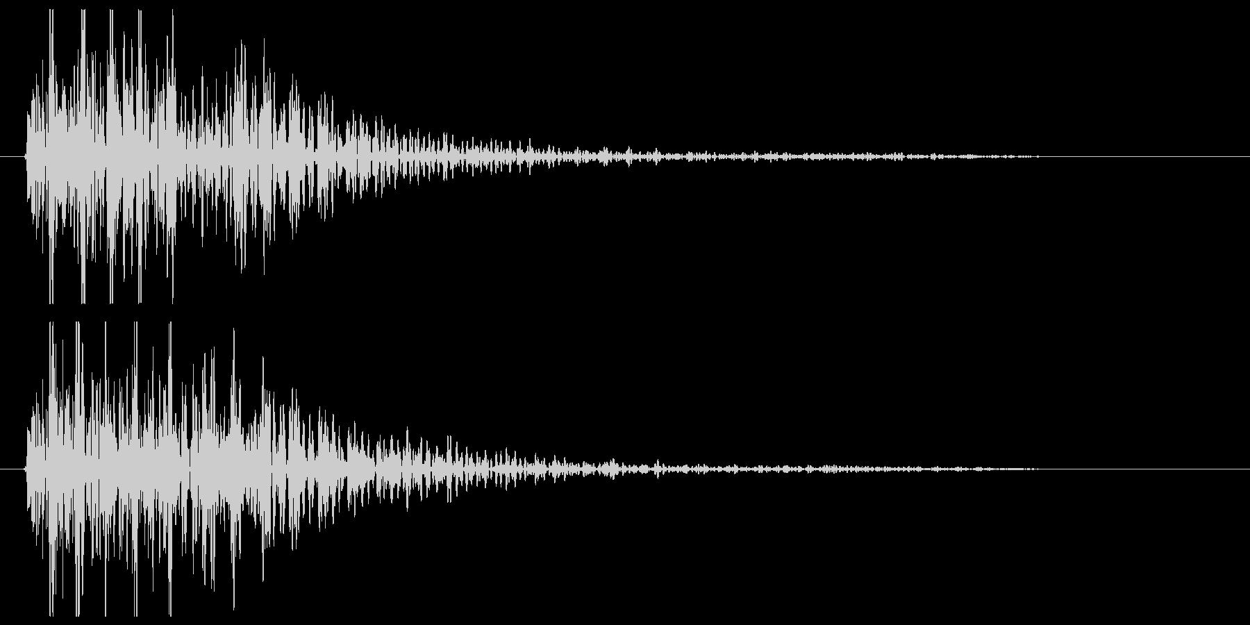ゴーン低い(短い音)の未再生の波形
