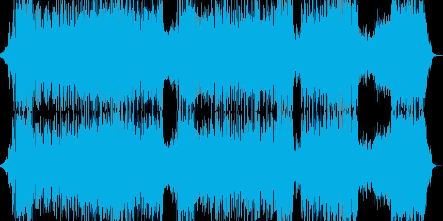 神秘的でサワサワとしたドラムンベースの再生済みの波形