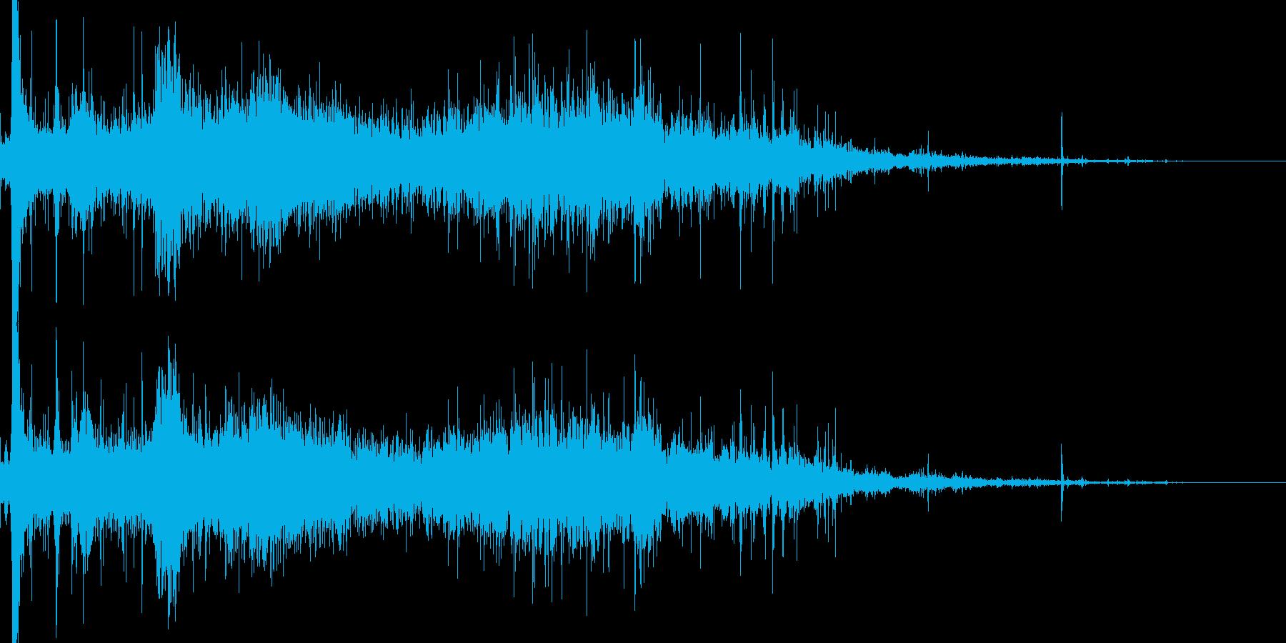 ダイビングの再生済みの波形
