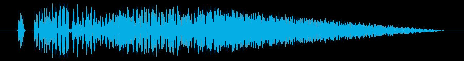 【打撃音21】パンチやキックに最適です!の再生済みの波形