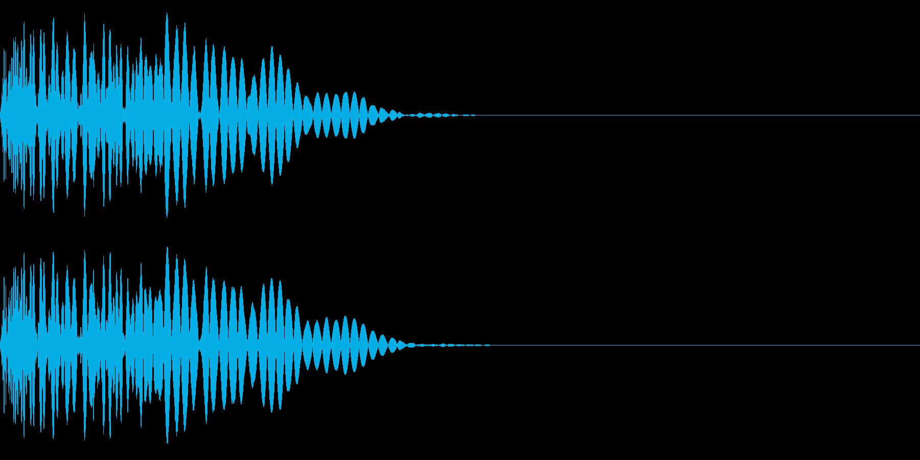 ドドン(しりもち/ぶつかる/衝撃)の再生済みの波形