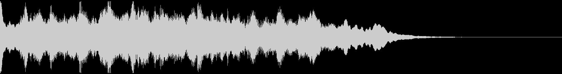 サウンドロゴ、5秒CM、場面転換verDの未再生の波形