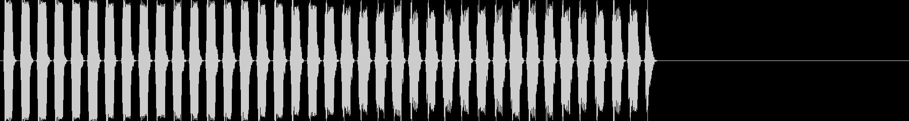 80年代のファミコンのような効果音の未再生の波形