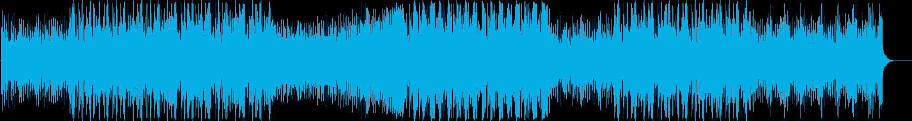 神秘的なピアノと近未来のクラブサウンドの再生済みの波形