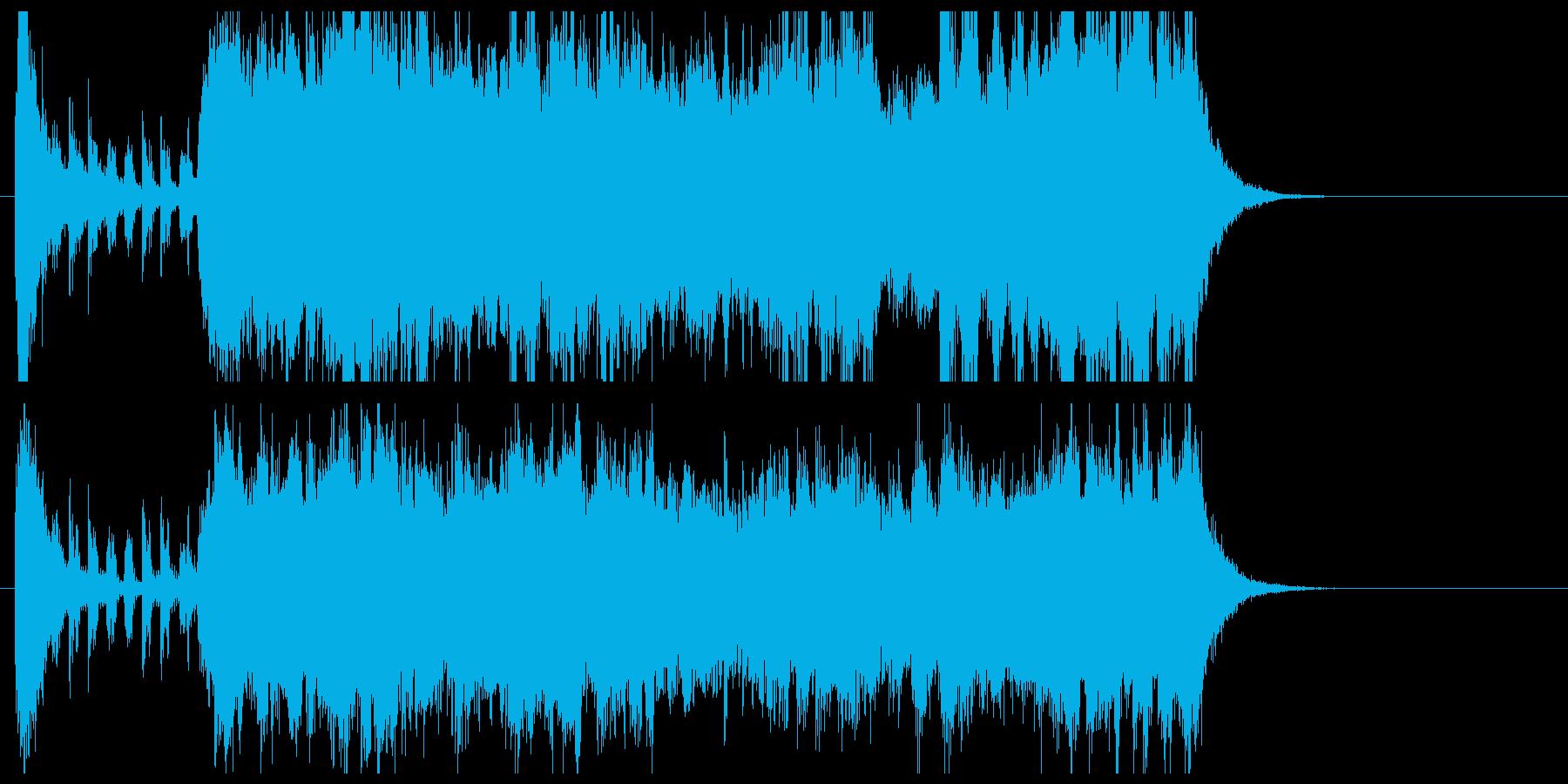 壮大で雄大なオーケストラの曲の再生済みの波形