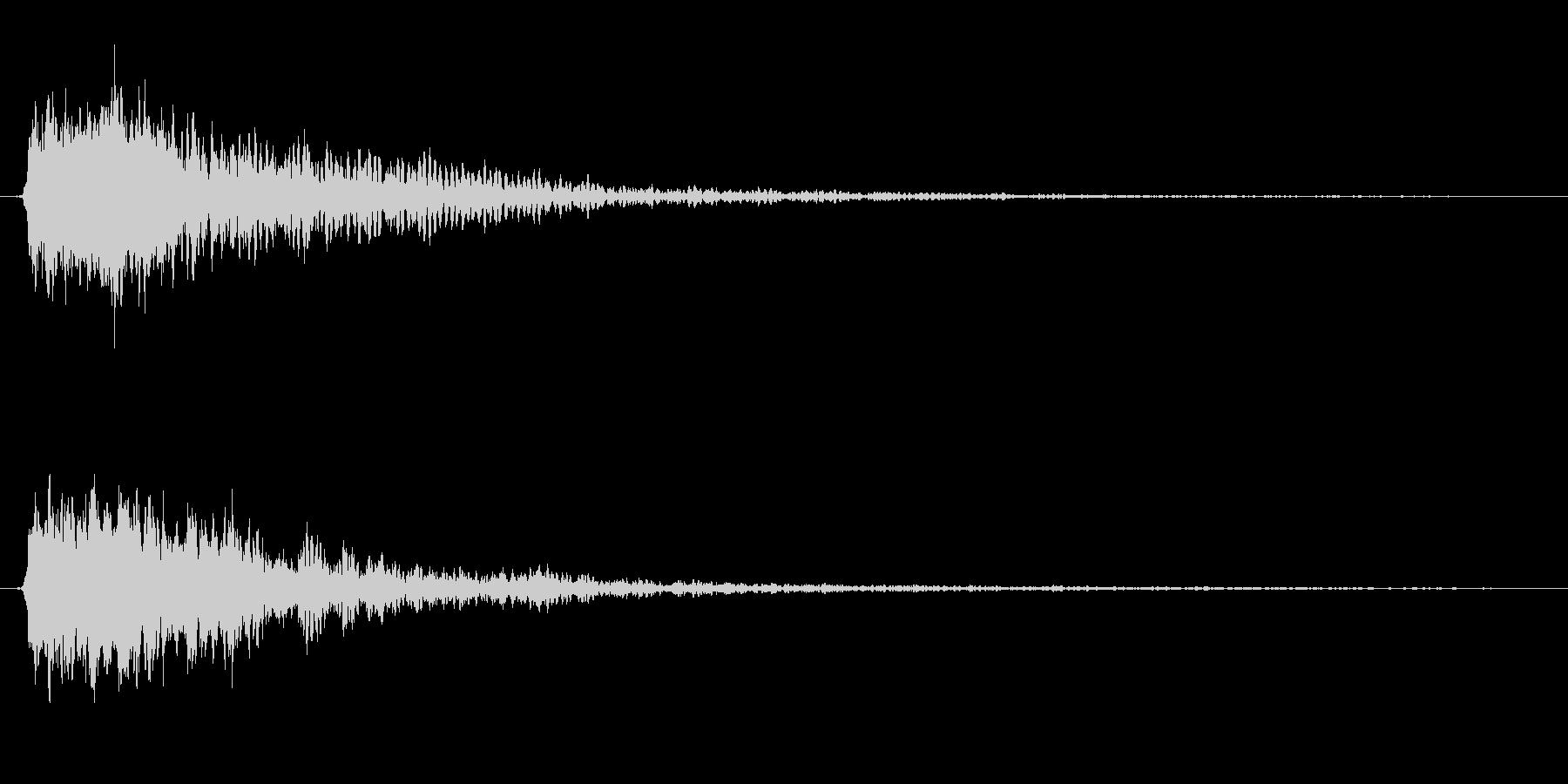 広い場所の金属音、予告、サウンドロゴの未再生の波形