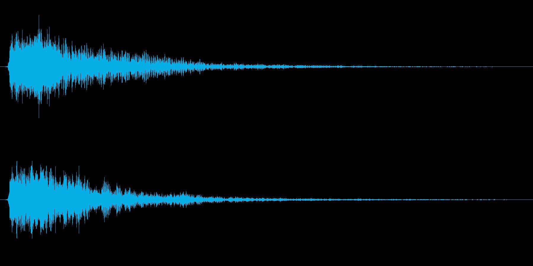広い場所の金属音、予告、サウンドロゴの再生済みの波形