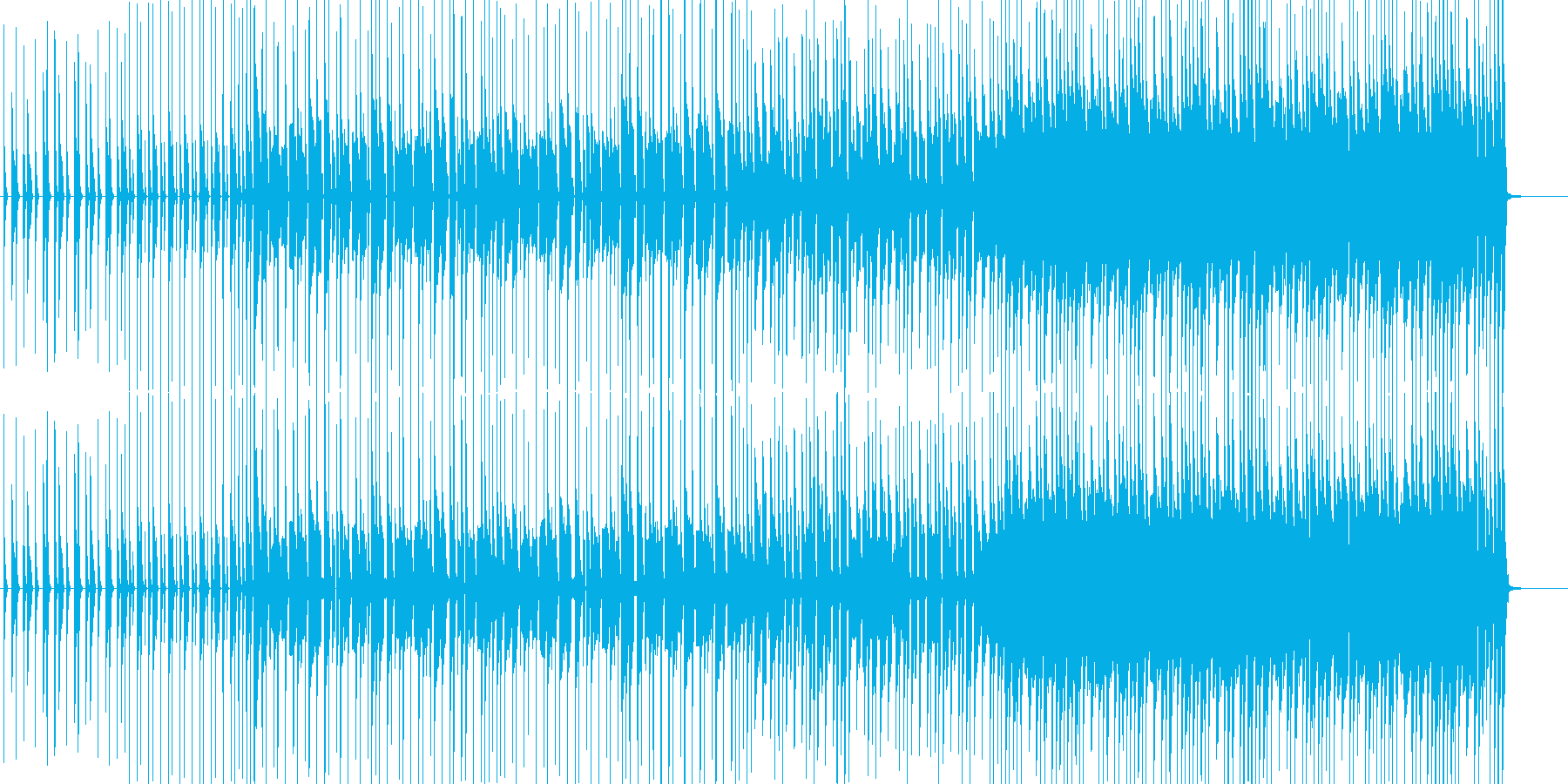 楽しいダンス曲の再生済みの波形