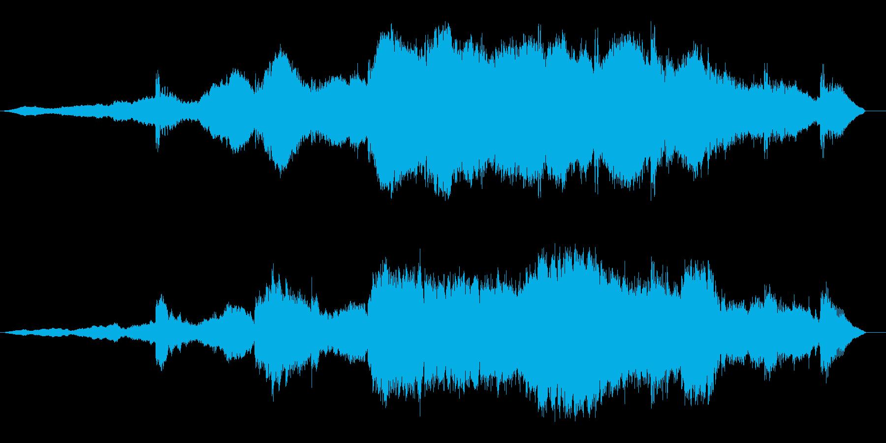緊迫感のある曲の再生済みの波形