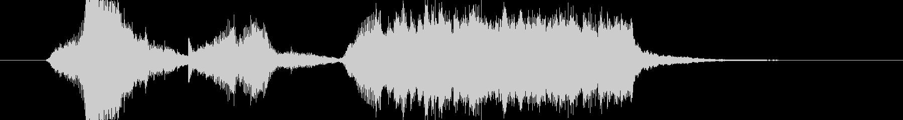 サスペンス・ミステリー風チェロのジングルの未再生の波形