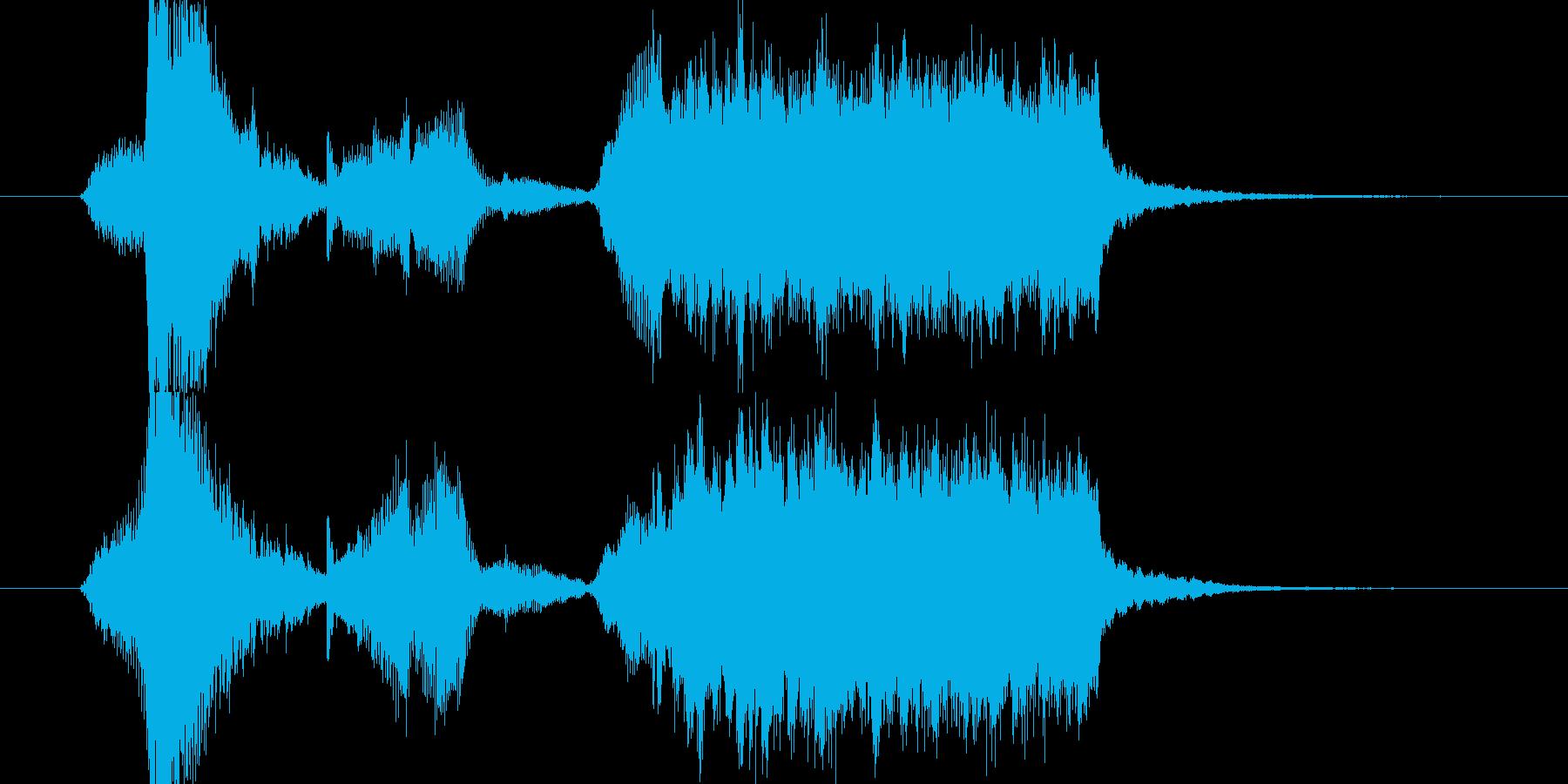 サスペンス・ミステリー風チェロのジングルの再生済みの波形