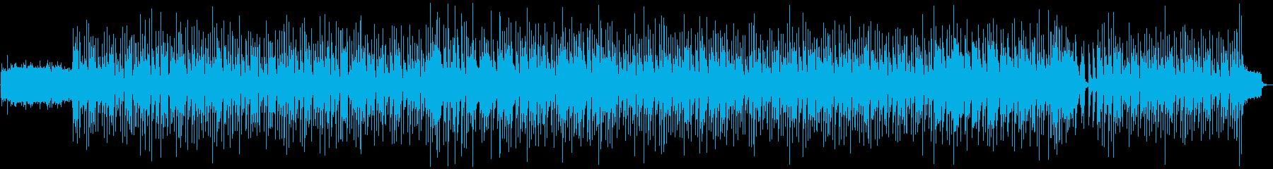 生演奏のアコギのお洒落なBGM。夏、浜辺の再生済みの波形