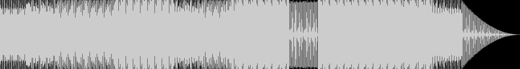 怖い感じの民族音楽っぽいテクノの未再生の波形