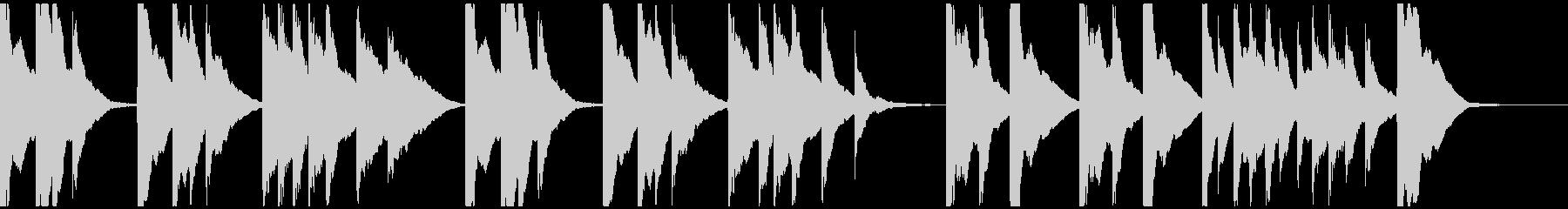 琴、シンプルBGM、和風な映像のバックの未再生の波形