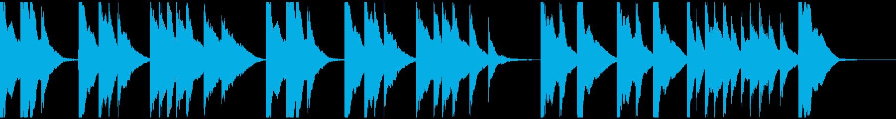 琴、シンプルBGM、和風な映像のバックの再生済みの波形