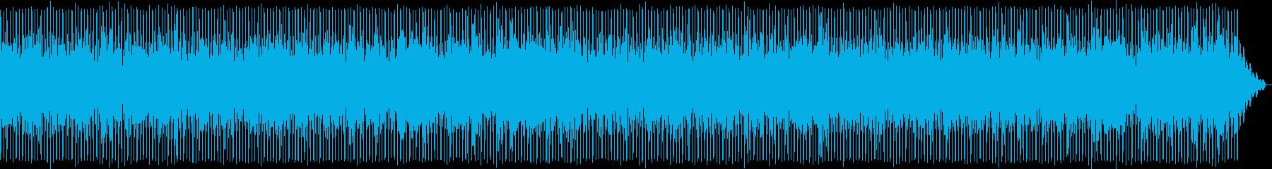 軽やかなテクノポップスの再生済みの波形