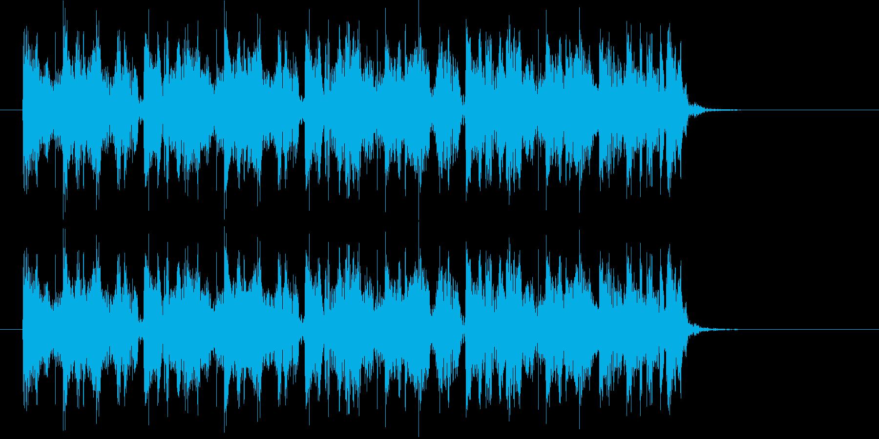 ビートがクールなヒップホップのジングルの再生済みの波形