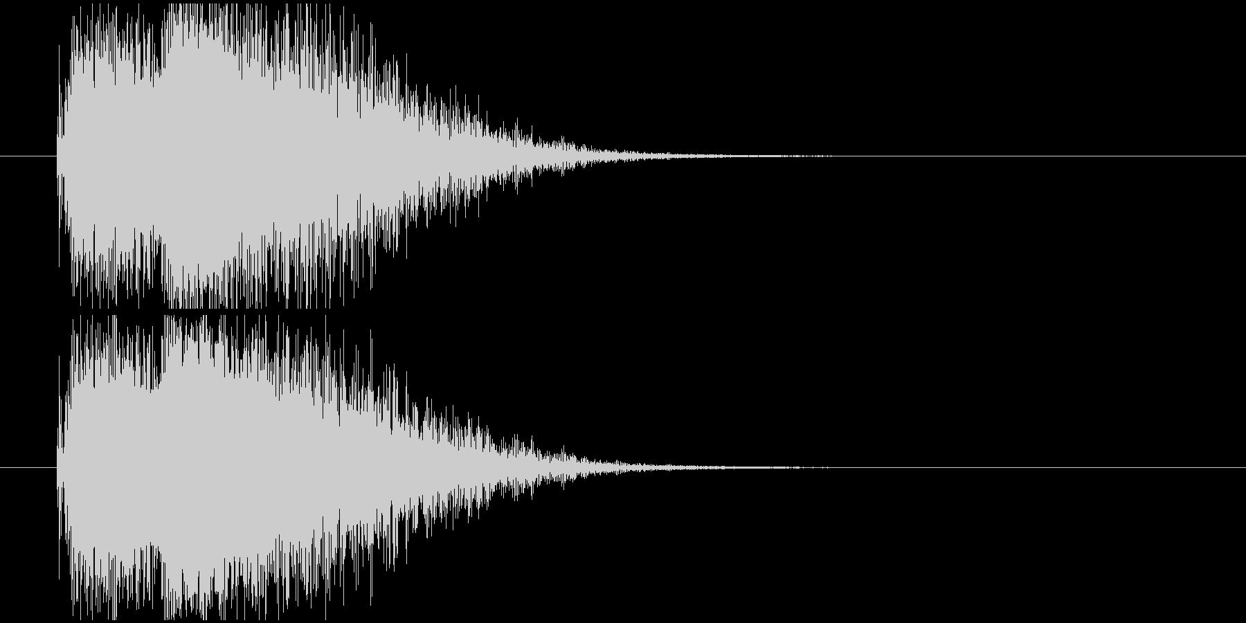 注目オケヒットの未再生の波形