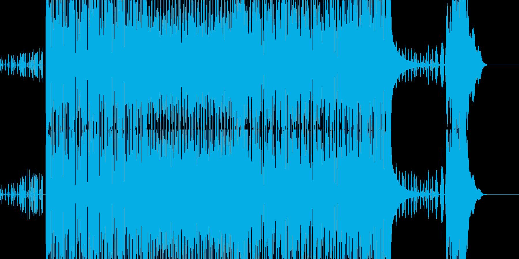 感動的な戦闘シーンの再生済みの波形