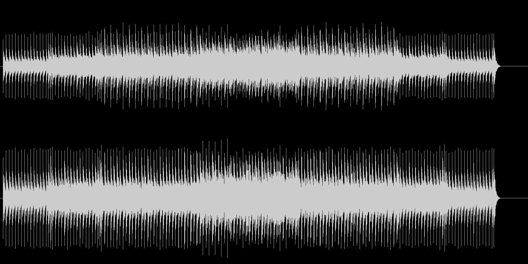 不安な雰囲気のマイナー・テクノ・ポップスの未再生の波形