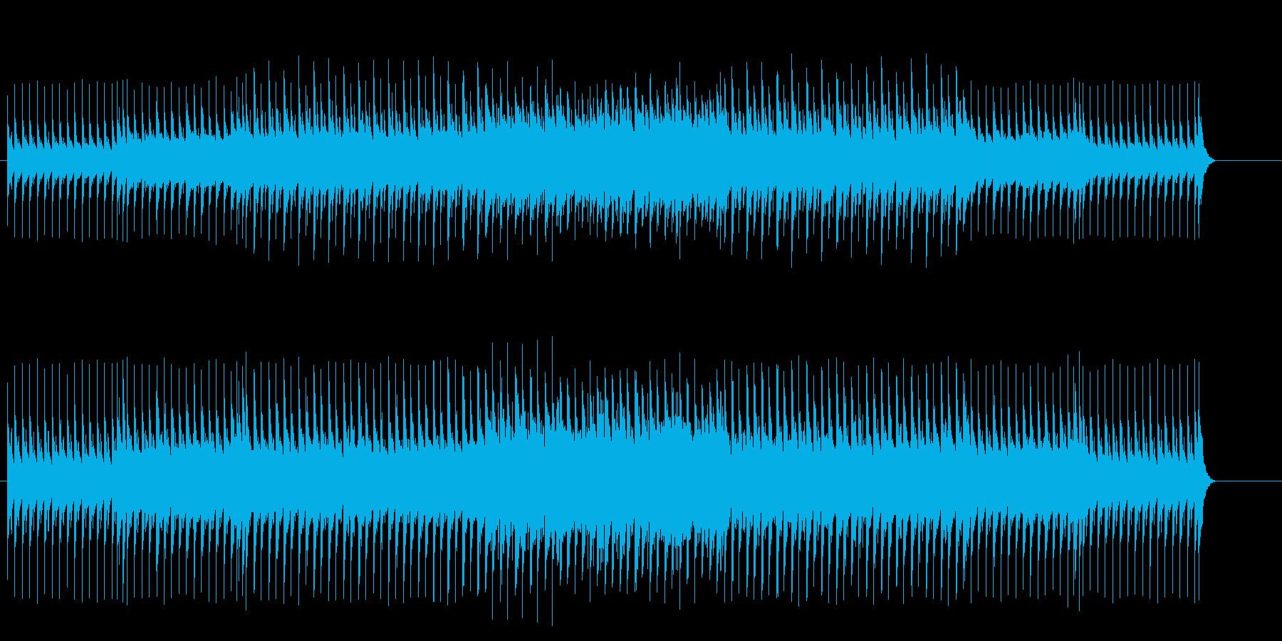 不安な雰囲気のマイナー・テクノ・ポップスの再生済みの波形