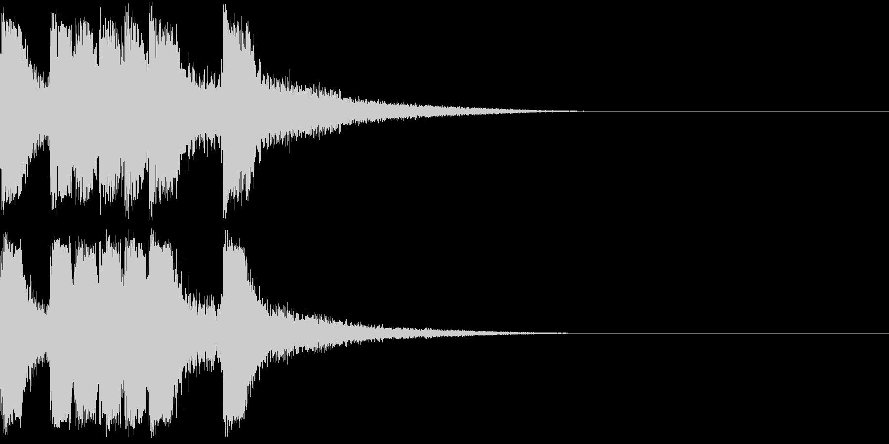 ファンファーレ 当たり 正解 合格 07の未再生の波形