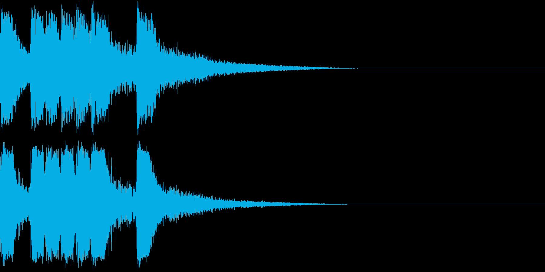 ファンファーレ 当たり 正解 合格 07の再生済みの波形