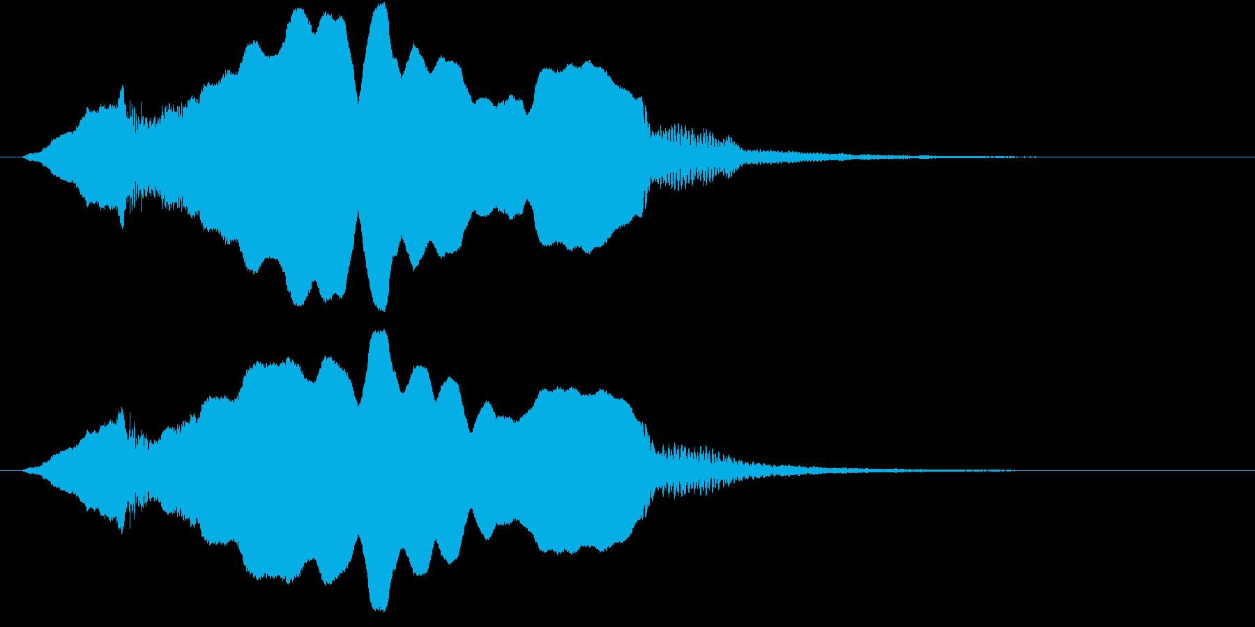 音侍SE「尺八フレーズ1」エニグマ音01の再生済みの波形